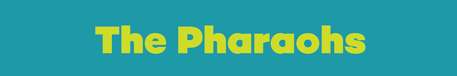 the pharaohs website banner