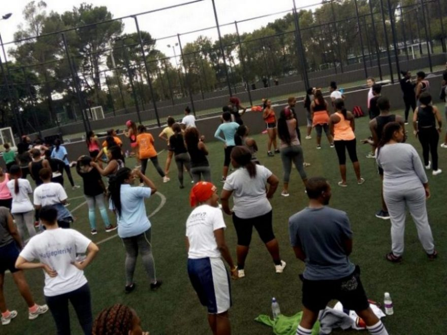 students excising day
